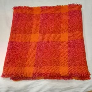 Wool throw blanket 14 by 57 inches